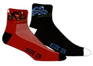 Red Lion Cyclist-Ride On High Tech 1/4 Crew Socks