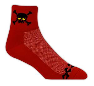 Red Lion Skull N&#39; Bones High Tech 1/4 Crew Socks