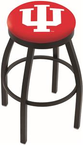 Indiana University Flat Ring Blk Bar Stool