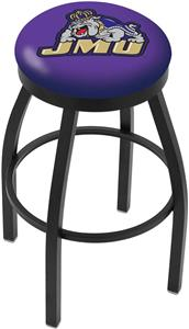James Madison University Flat Ring Blk Bar Stool