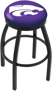 Kansas State University Flat Ring Blk Bar Stool