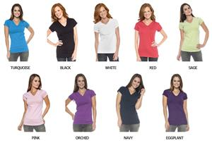 In Your Face Apparel Misses V-Neck Shirts