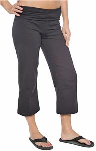 Juniors Capri Fold Over Yoga Pant