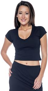 In Your Face Apparel Junior Cap Sleeve Crop Tee