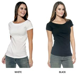 In Your Face Apparel Misses Wide Neck Scoop Tee