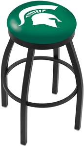 Michigan State University Flat Ring Blk Bar Stool