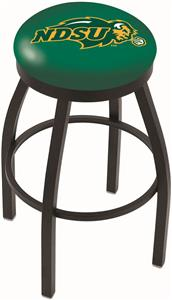North Dakota State Univ Flat Ring Blk Bar Stool