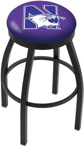 Northwestern University Flat Ring Blk Bar Stool