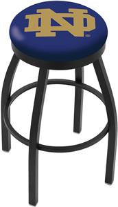 Holland Notre Dame ND Flat Ring Blk Bar Stool