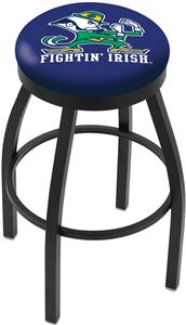 Notre Dame Leprechaun Flat Ring Blk Bar Stool