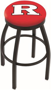 Holland Rutgers University Flat Ring Blk Bar Stool