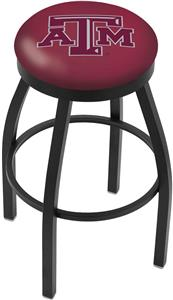 Holland Texas A&M Flat Ring Blk Bar Stool