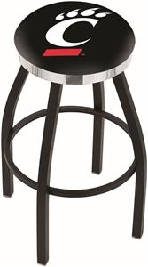 University of Cincinnati Flat Ring Blk Bar Stool