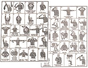 Dalco Football Officials Signal Card (pkg of 10)