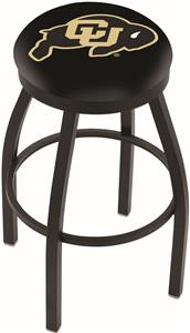 University of Colorado Flat Ring Blk Bar Stool