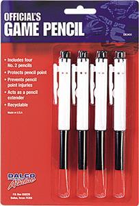 Dalco Football Officials Four Game Pencils
