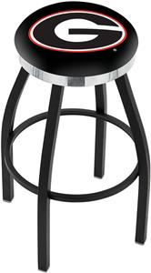 "Univ of Georgia ""G"" Flat Ring Blk Bar Stool"