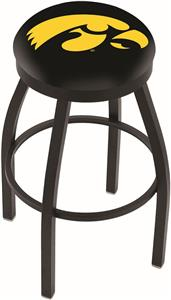 University of Iowa Flat Ring Blk Bar Stool