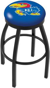 University of Kansas Flat Ring Blk Bar Stool