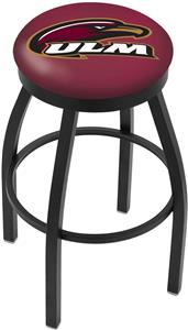 Univ of Louisiana Monroe Flat Ring Blk Bar Stool