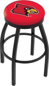 University of Louisville Flat Ring Blk Bar Stool