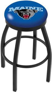 University of Maine Flat Ring Blk Bar Stool