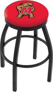 University of Maryland Flat Ring Blk Bar Stool