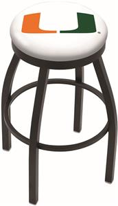 University of Miami (FL) Flat Ring Blk Bar Stool