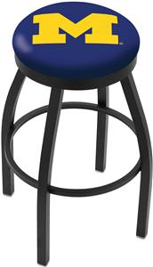 University of Michigan Flat Ring Blk Bar Stool