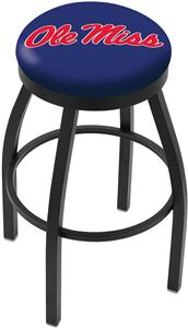 University of Mississippi Flat Ring Blk Bar Stool