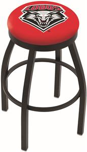 University of New Mexico Flat Ring Blk Bar Stool