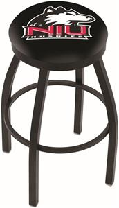 Univ of Northern Illinois Flat Ring Blk Bar Stool