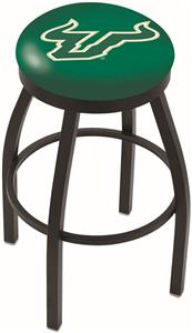 Univ of South Florida Flat Ring Blk Bar Stool