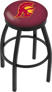 Univ Southern California Flat Ring Blk Bar Stool