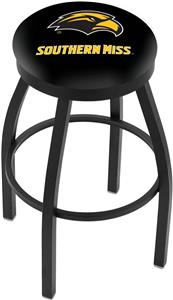 Univ Southern Mississippi Flat Ring Blk Bar Stool