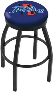 University of Tulsa Flat Ring Blk Bar Stool