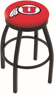 Holland University of Utah Flat Ring Blk Bar Stool