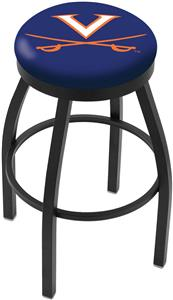 University of Virginia Flat Ring Blk Bar Stool
