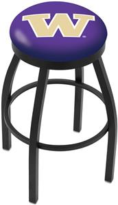 University of Washington Flat Ring Blk Bar Stool