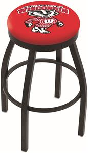 Univ of Wisconsin Badger Flat Ring Blk Bar Stool