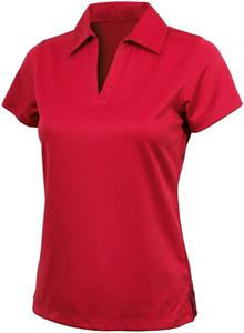 Women's Smooth Knit Solid Wicking Polo