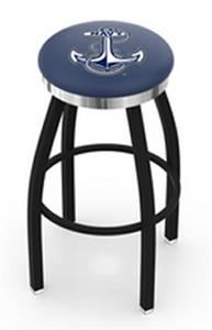 US Naval Academy Flat Ring Blk Bar Stool