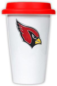 NFL Arizona Cardinals Ceramic Cup with Red Lid