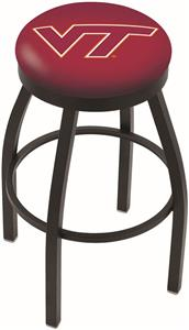 Virginia Tech University Flat Ring Blk Bar Stool