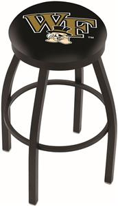 Wake Forest University Flat Ring Blk Bar Stool