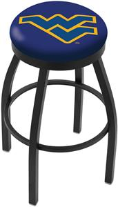 West Virginia University Flat Ring Blk Bar Stool