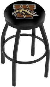 Western Michigan Univ Flat Ring Blk Bar Stool