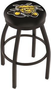 Wichita State University Flat Ring Blk Bar Stool