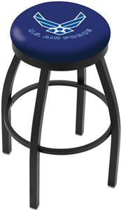 United States Air Force Flat Ring Blk Bar Stool