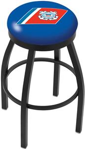 United States Coast Guard Flat Ring Blk Bar Stool